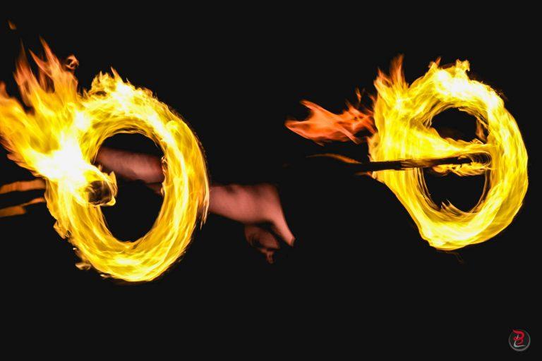 Noel_Blaye_commerçants-Photo de l'évènement - Spectacle de feu - Manu le jongleur